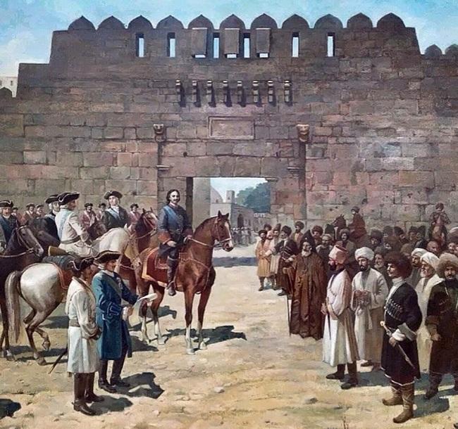 Дербентцы подарили Петру I ключи от врат Дербента