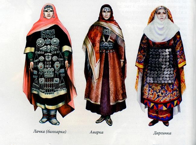 Национальные костюмы Дагестана всегда сочетали красоту и скромность