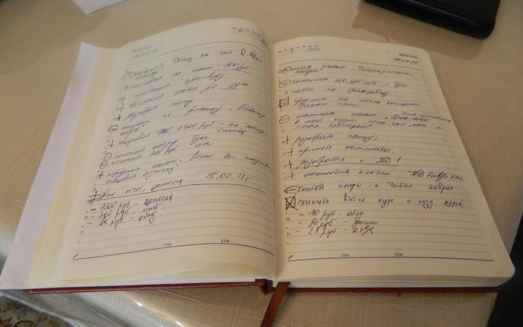 Ежедневник - важный инструмент планирования