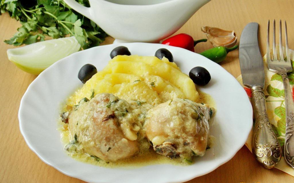 Блюдо из белого мяса птицы