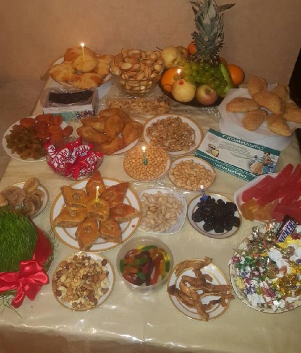 Вот такой стол накрыли на Новруз Байрам