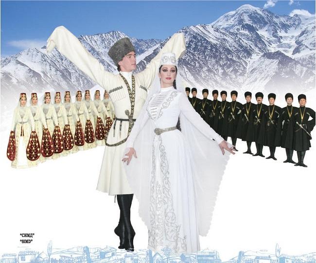 Величественный осетинский танец Симд