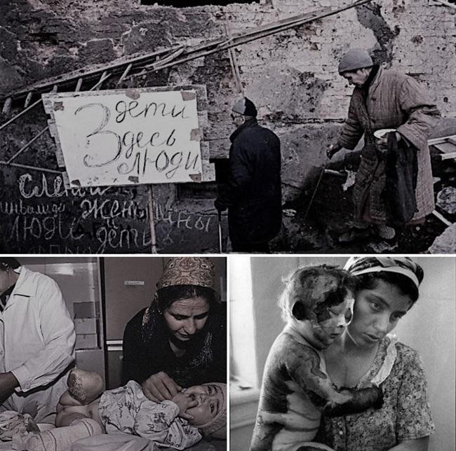 В результате чеченской войны были понесены большие человеческие потери
