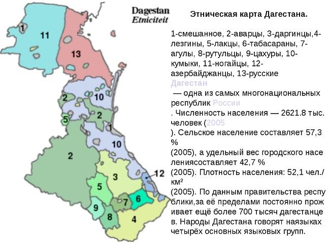 В число аварцев входят родственные им группы народов – арчинцы и андо-цезские