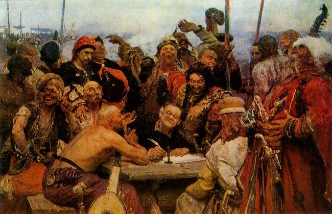 Запорожские казаки писали ответное письмо турецкому султану