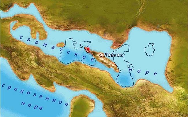 Сегодня очень сложно поверить, что Кавказ был островом, а территория вокруг - Сарматским морем