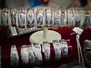 Серебряные кубачинские браслеты