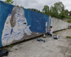 В Сухуме появился стрит-арт по мотивам Нартского эпоса